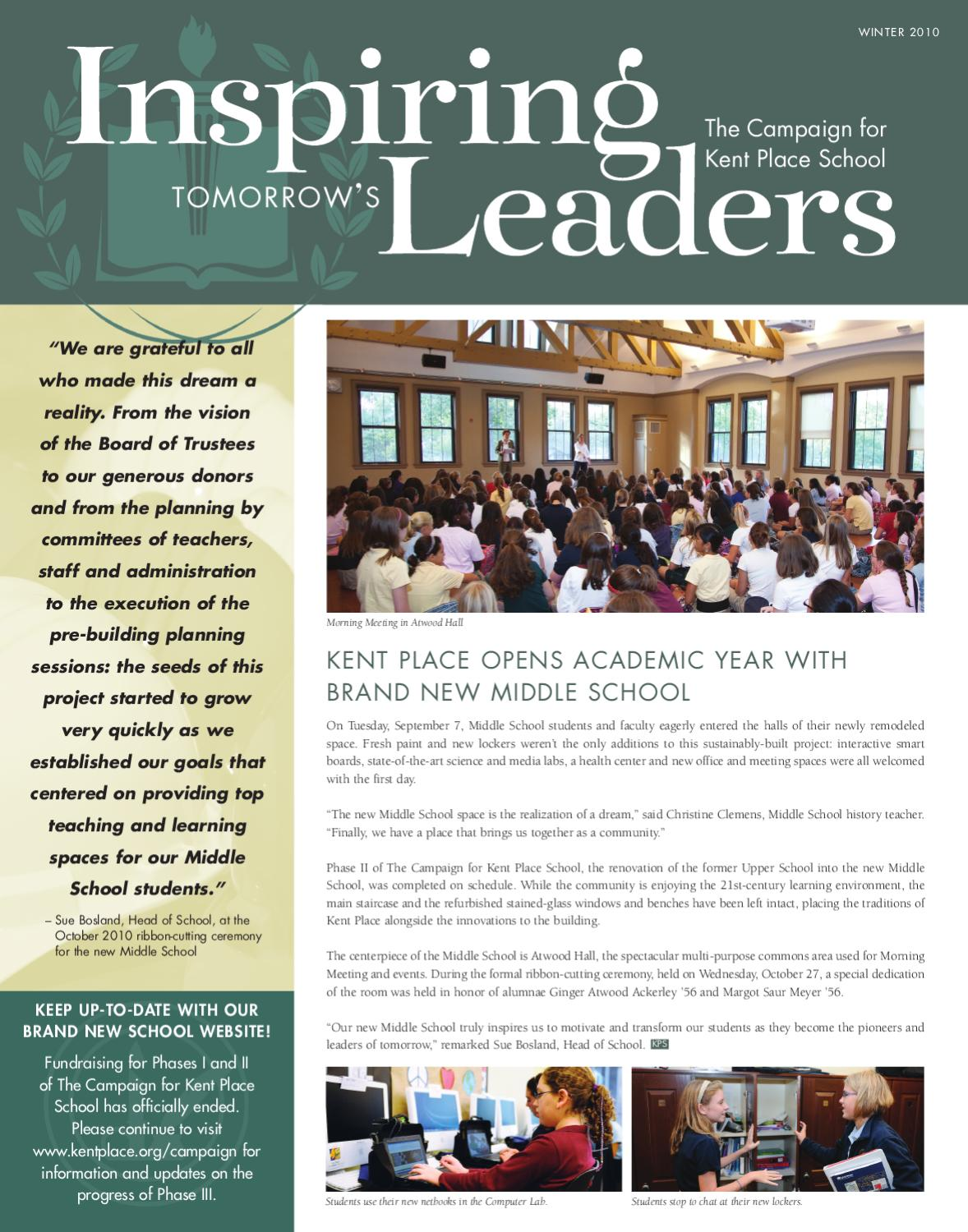 Campaign Newsletter by Kent Place School - issuu
