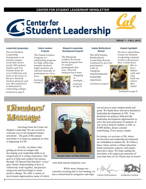 Csl newsletter by student affairs communications uc berkeley issuu malvernweather Choice Image