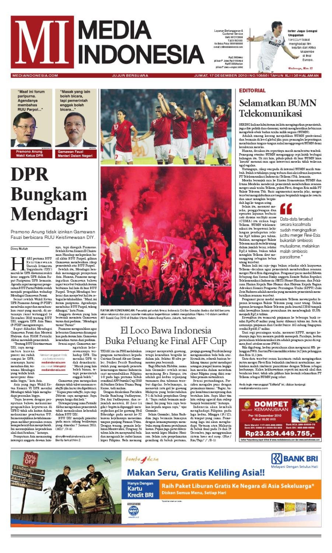 Media Indonesia 17 Desember 2010 By Asmat Issuu Produk Ukm Bumn Outer Pendek Ijo Coklat Berkerah