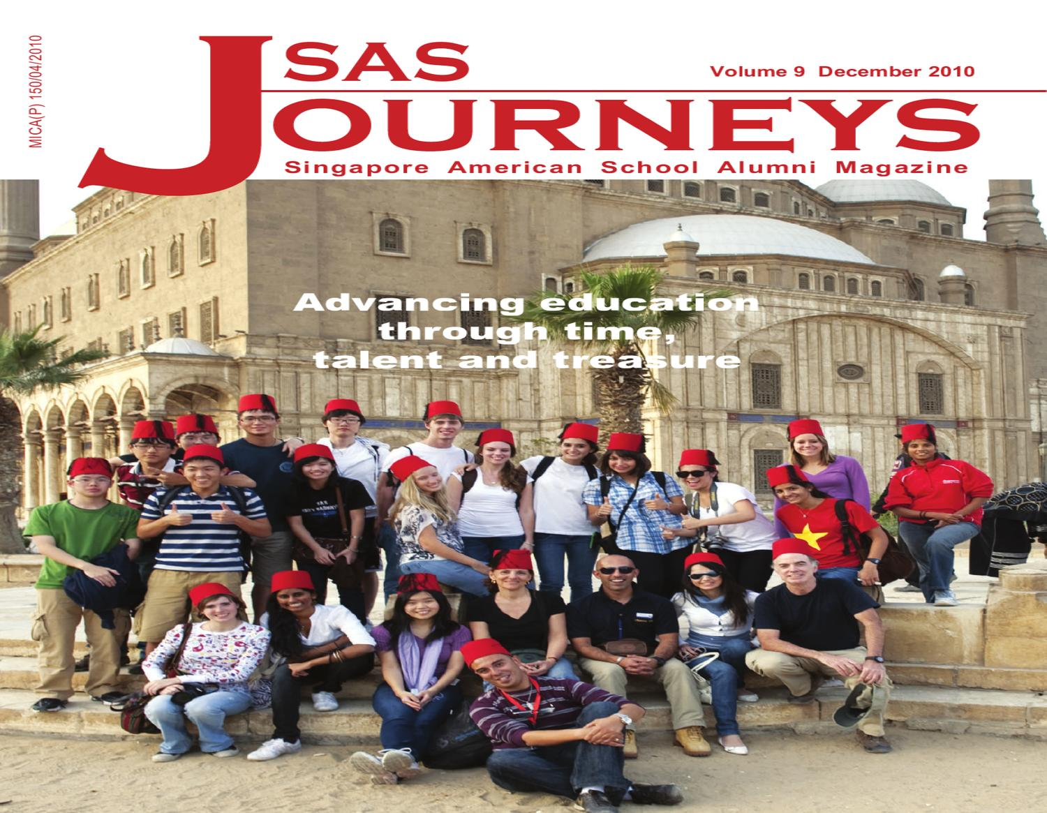 Singapore American School Journeys December 2010 Volume 9 By Young Loves Physics September Issuu