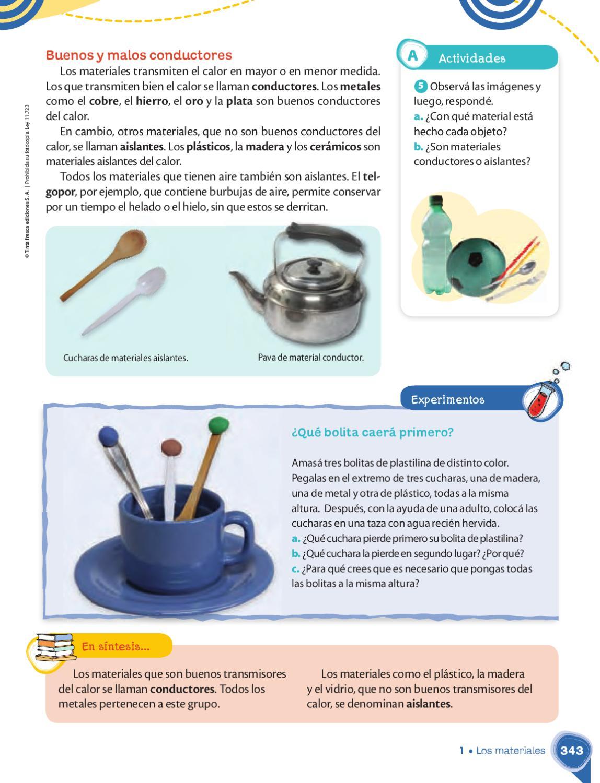 Manual naci n quiero aprender 4 by tinta fresca tinta - Materiales aislantes del calor ...