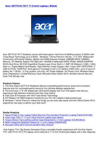 USB 2.0 External CD//DVD Drive for Acer aspire 7741g-7017