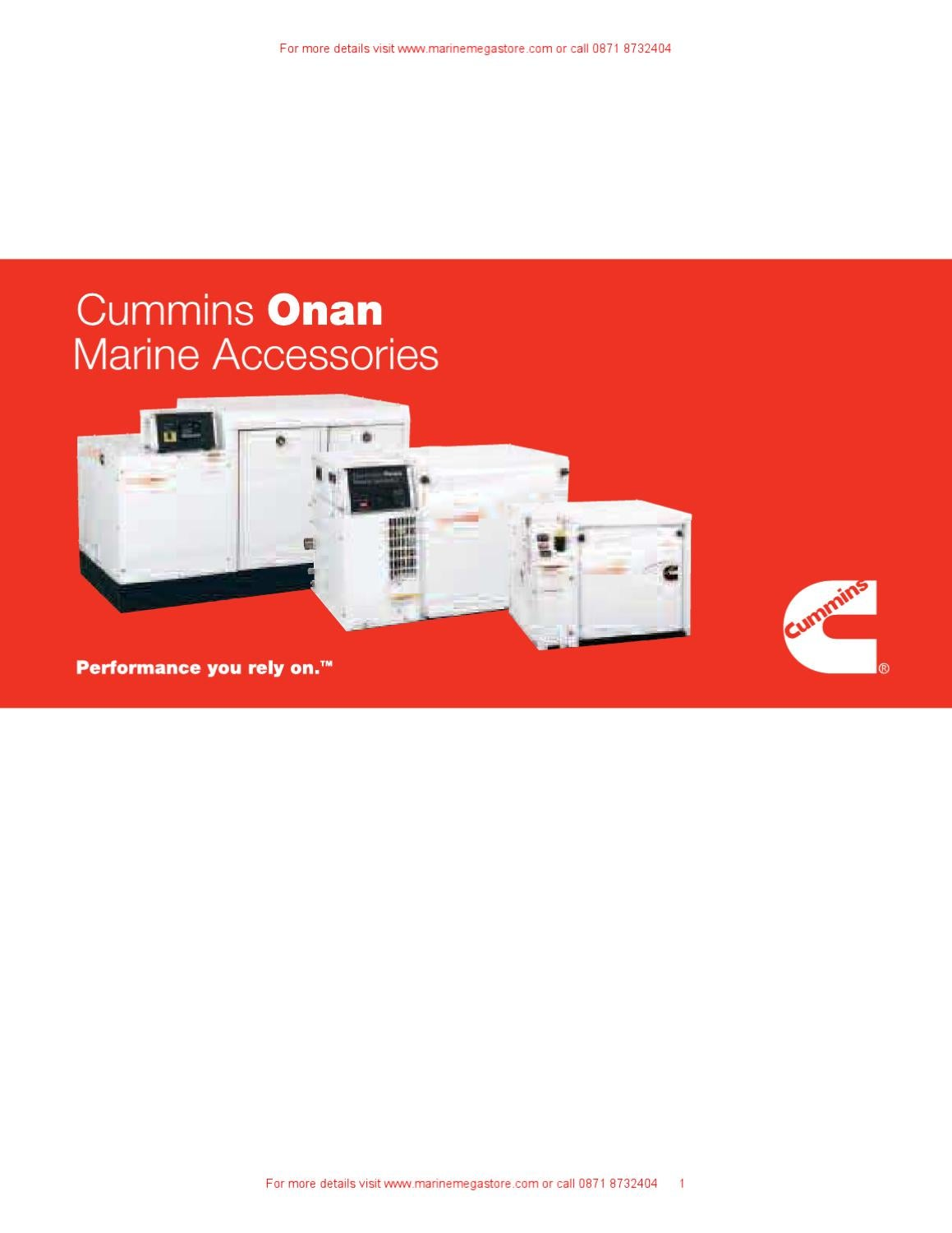Cummins onan marine accessories by marine mega store ltd for Small room 9 paging ground control