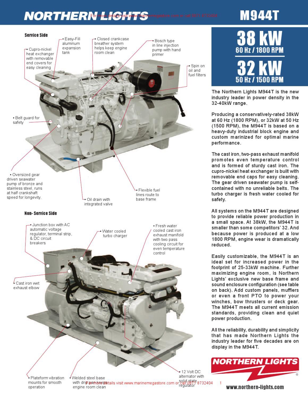 Northern Lights-M944T 38-32 kW Northern Lights marine generator set