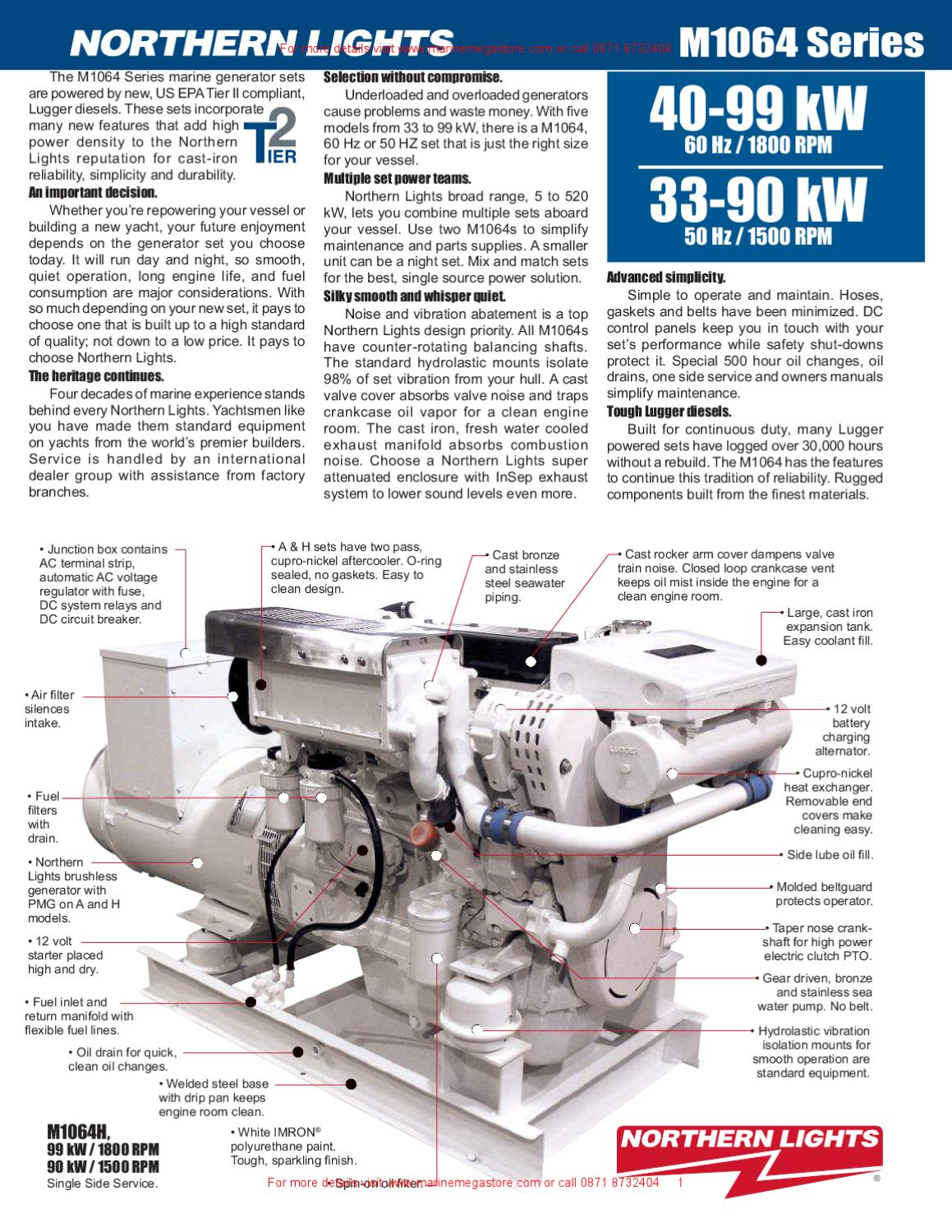 Northern Lights M1064 Series 40 99 30 90 Kw Circuit Breaker Dc Generator Sets By Marine Mega Store Ltd Issuu