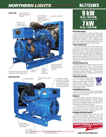 Northern Lights NL773LW3 9 7 KW Industrial Generator