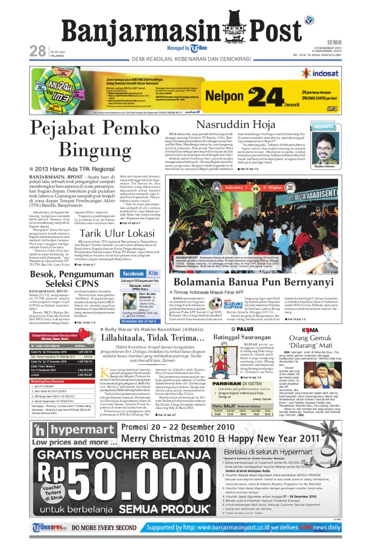 Banjarmasin Post Edisi Senin 20 Desember 2010 by Banjarmasin Post - issuu a3572e6e01