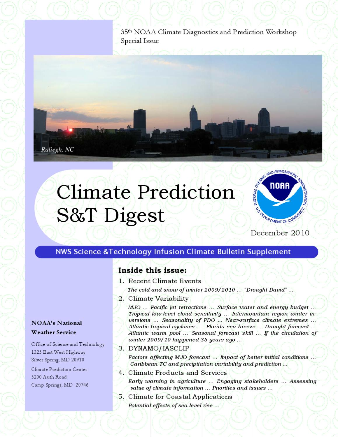 Climate Prediction S&T Digest, December 2010 by Jiayu Zhou - issuu