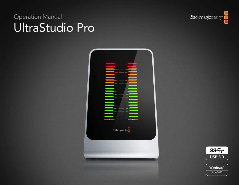 Ultra Studio Pro Manual Blackmagic Design By Monitor Magazine Issuu