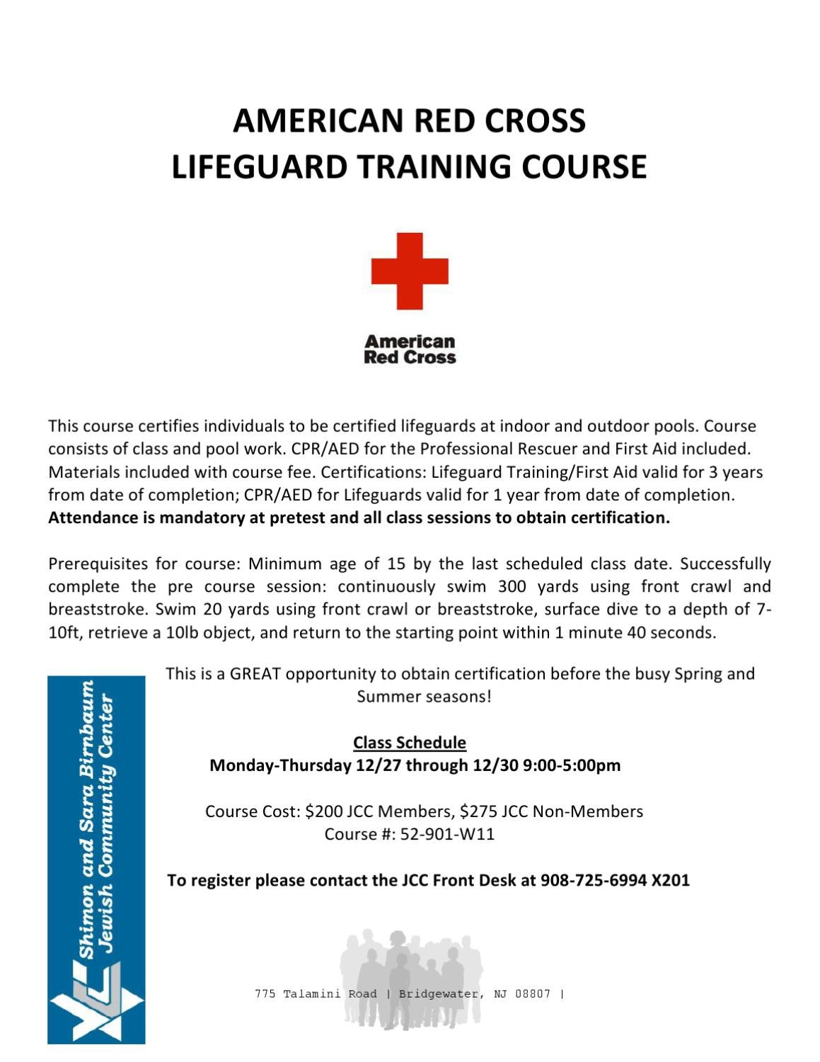 Arc Lifeguard Course Begins 1217 Registering Now By Jeff Gross