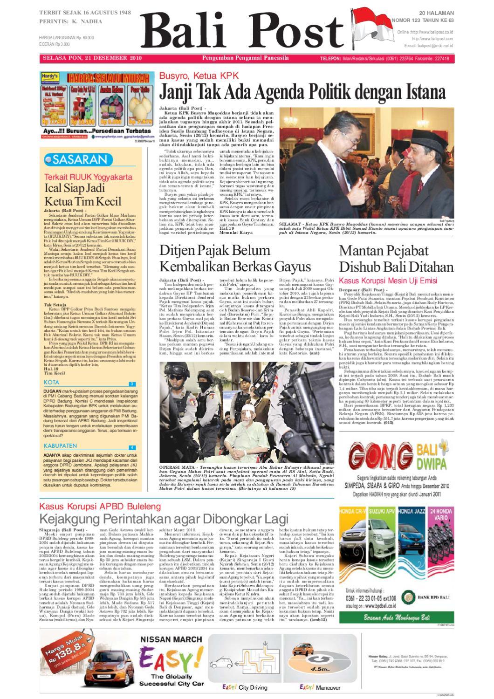 Edisi 21 Desember 2010 Balipost Com By E Paper Kmb Issuu