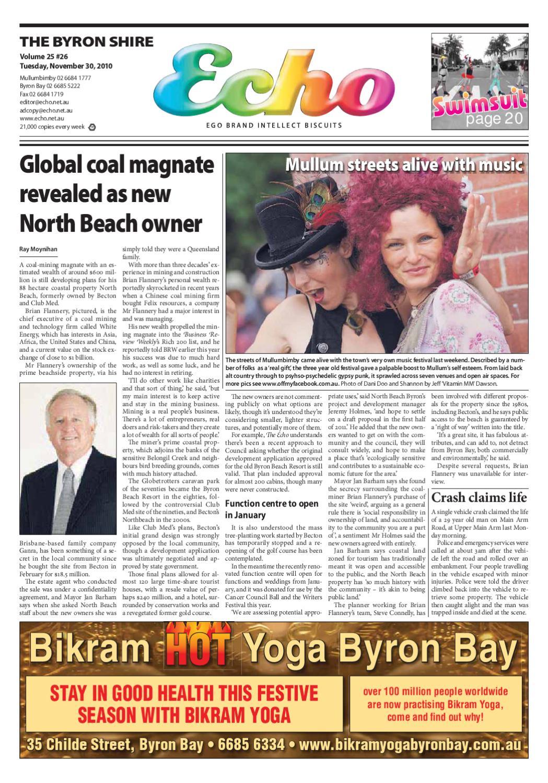 2fba3c5513f Byron Shire Echo – Issue 25.26 – 30 11 2010 by Echo Publications - issuu