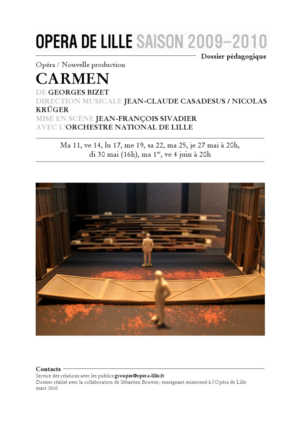"an analysis of carmen an opera by jean bijet Les feluettes is a rare case of a full-size and full-length contemporary opera that holds the stage while remaining artistically true to itself - arthur kaptainis opéra de montreal premiered ""les feluettes"" saturday, and it had all the characteristics of grand opera, including a tragic love story, passionate music and grand staging."