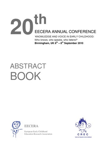 Eecera 2010 Abstract Book By Crec Issuu