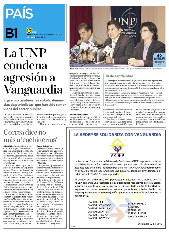 Diario La Hora Manabi 22 diciembre 2010 by Diario La Hora