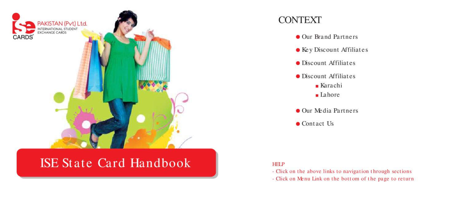 ISE Cards Pakistan Discount Handbook by ISE Cards Pakistan - issuu