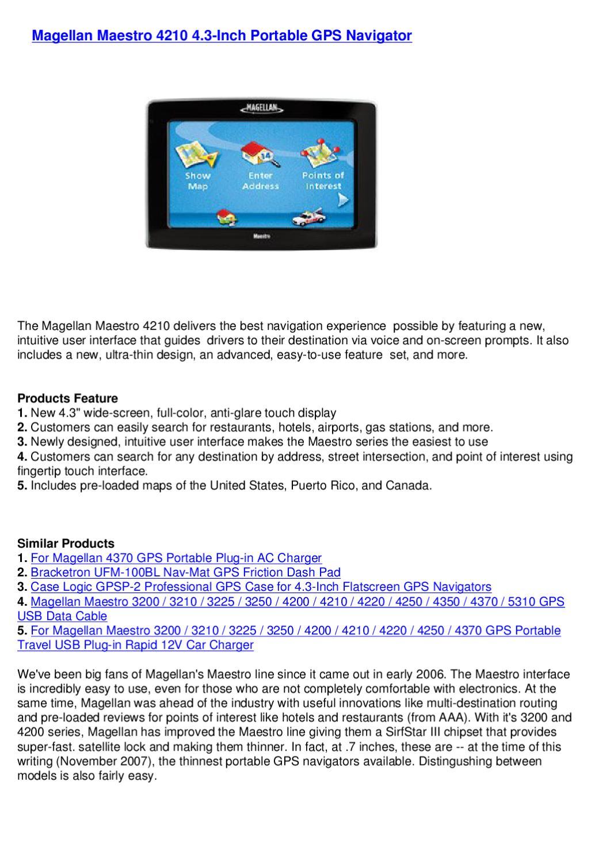 "NEW Magellan Maestro 4370 Portable Car GPS Navigator System 4.3/"" USA Canada Maps"