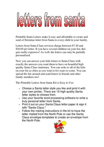 photo about Printable Santa Stationary named letters versus santa claus as a result of elison tom - issuu
