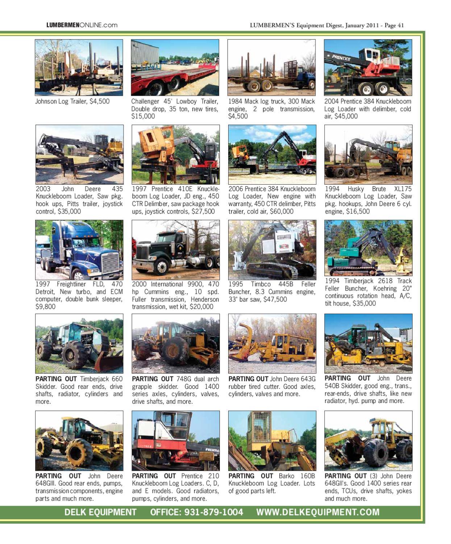 January 2011 / LUMBERMEN'S Equipment Digest by LUMBERMEN'S Equipment