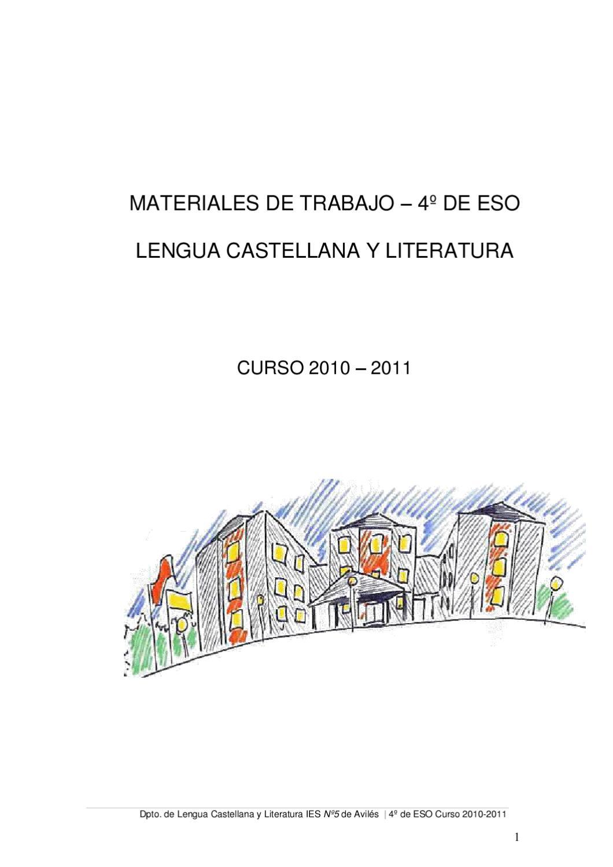 Materiales Lengua y Literatura 4º ESO by IES Nº 5 de AVILÉS - issuu