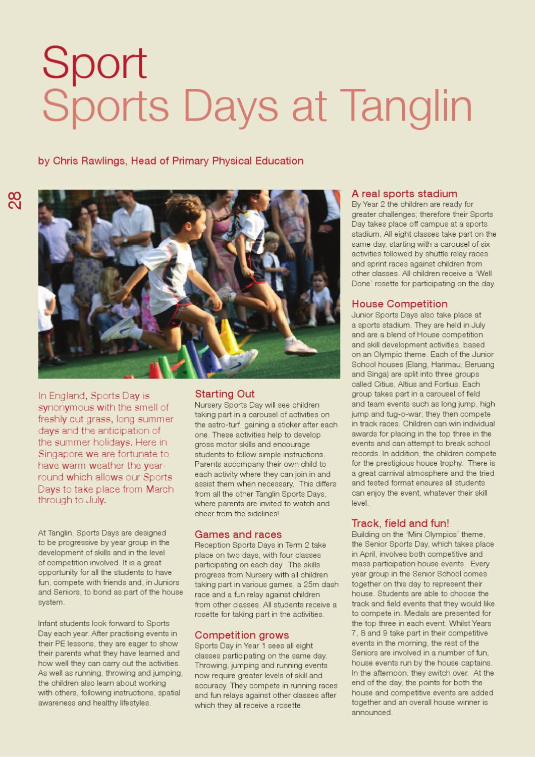The Voice Issue 5 By Tanglin Trust School Issuu Basic Skills In Relay Race