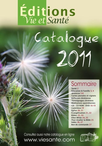 Catalogue Editions Vie Et Sante 2011 By Alban Berrube Issuu
