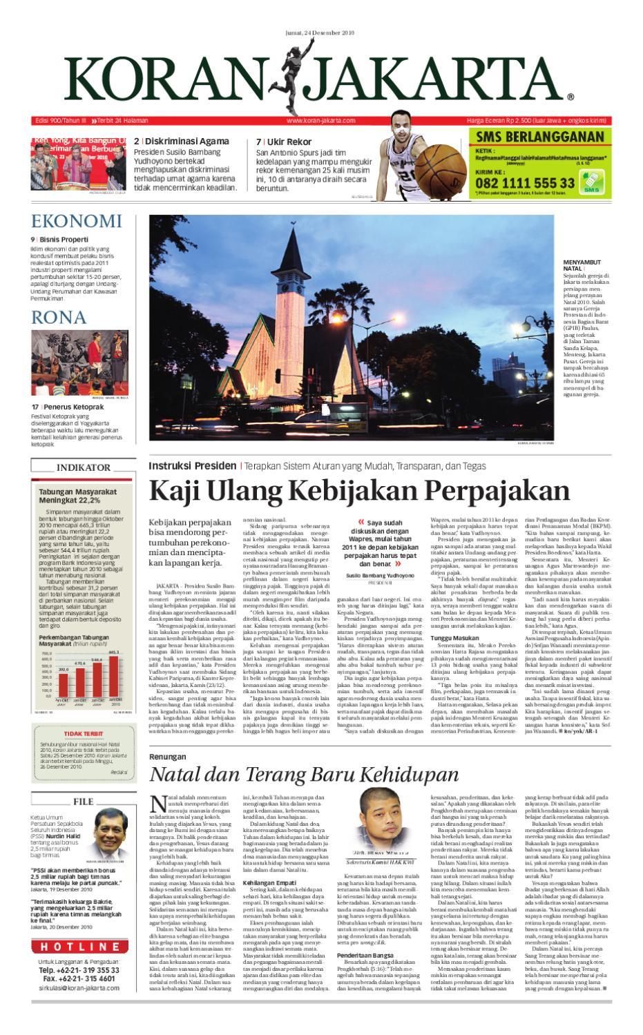 EDISI 900 - 24 DESEMBER 2010 by PT. Berita Nusantara - issuu 1604c93a69