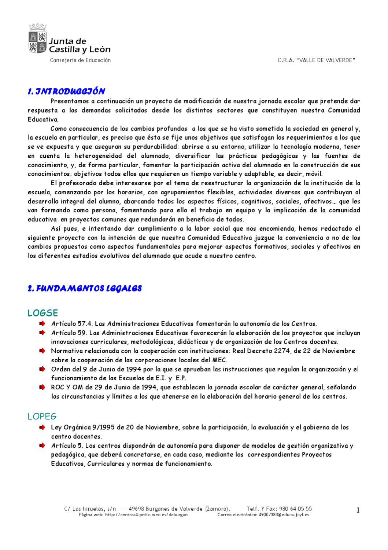 Proyecto de Jornada Continua by Alvaro del Río - issuu