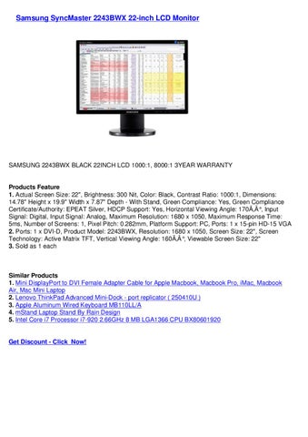 Samsung syncmaster 2243bwx