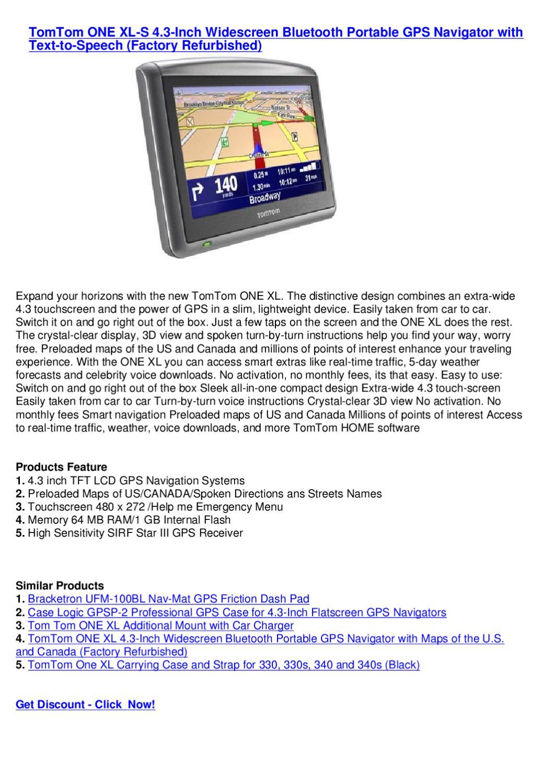 TomTom XL 330 4.3-Inch Portable GPS Navigator