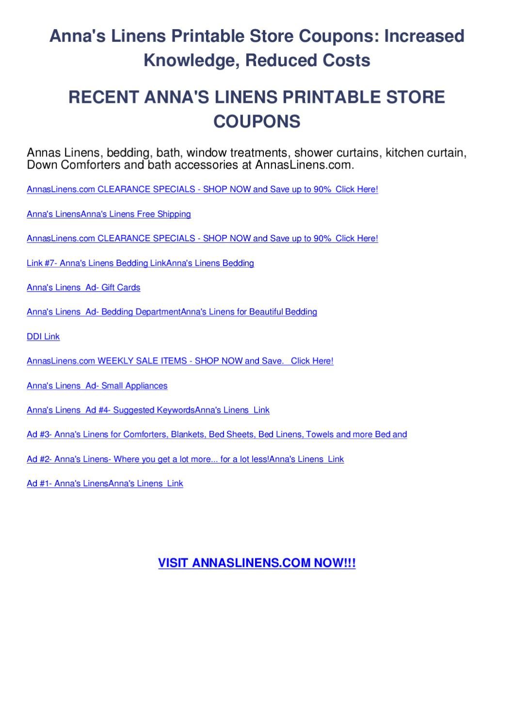 bedding superstore coupon code annas linens printable coupons by codes issuu 10438