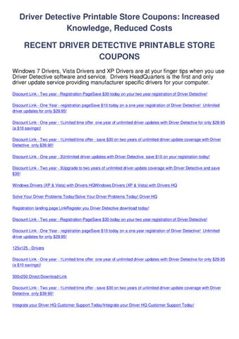 driver detective printable store coupons by sam caterz issuu