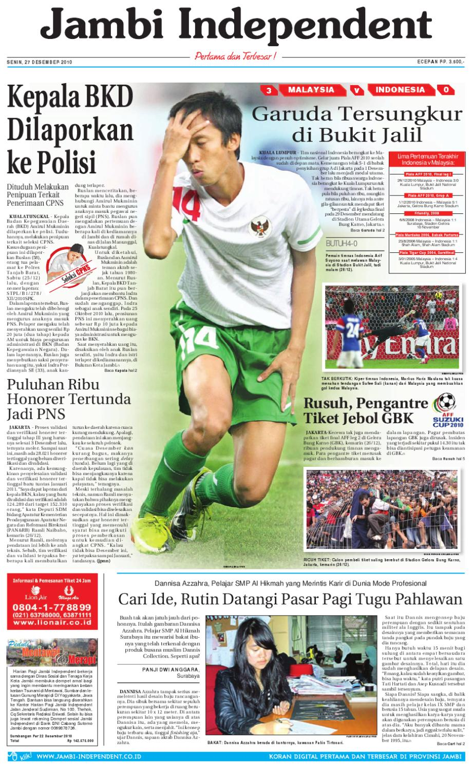Jambi Independent 27 Desember 2010 By Jambi Independent Issuu