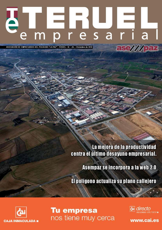 Teruel Empresarial N 36 Diciembre 2010 By Asempaz Asoc De  # Muebles Jover Teruel