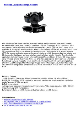 Hercules Dualpix Exchange Webcam 64x