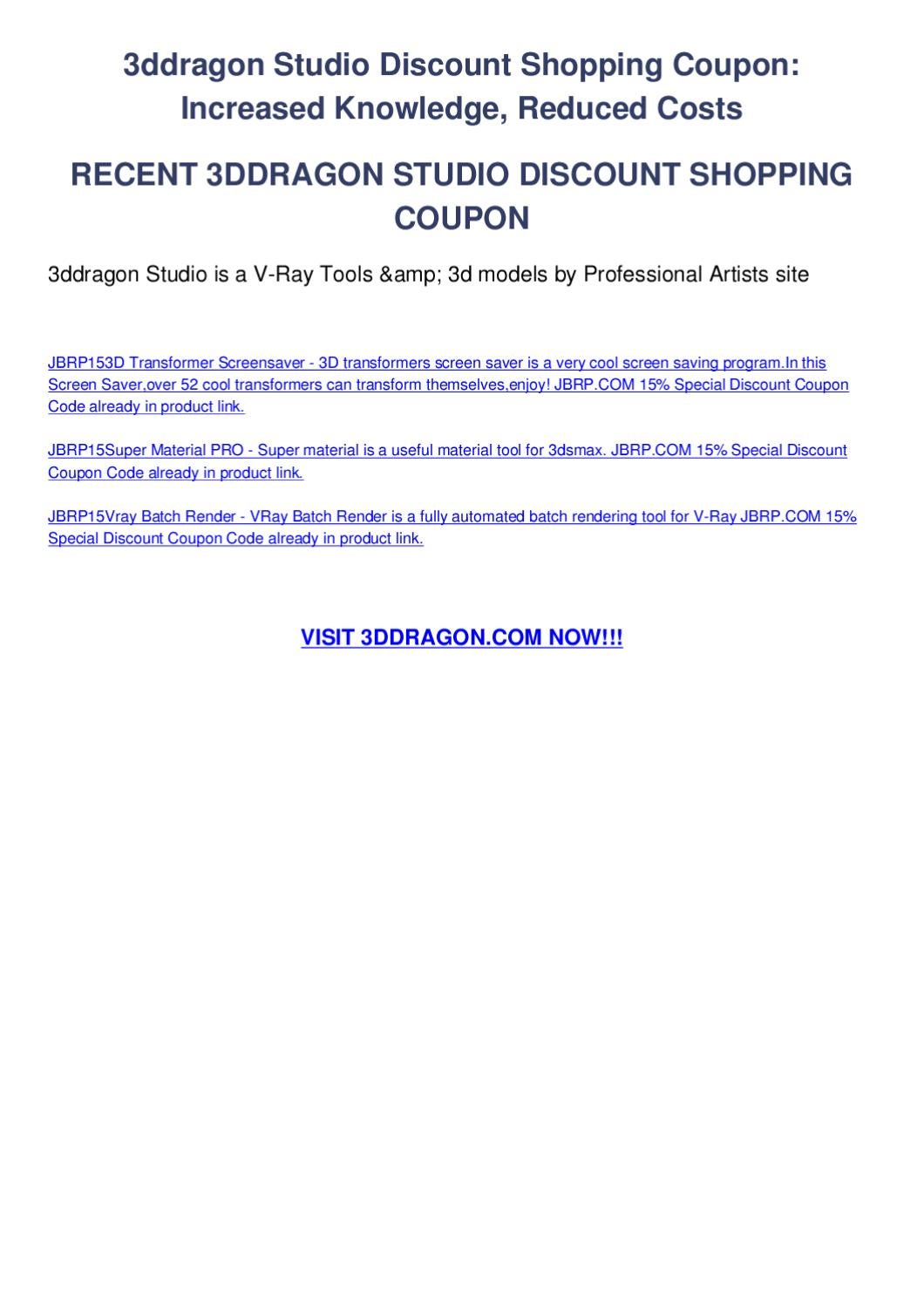 3ddragon studio discount shopping coupon by melis zereng - issuu