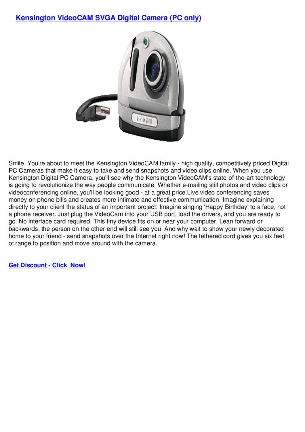SOLVED I need a Driver for a Kensington Video cam Model - Fixya