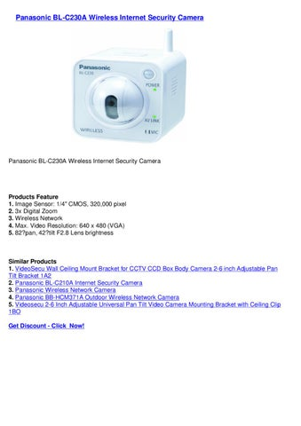 PANASONIC BL-C230A NETWORK CAMERA DRIVER FOR WINDOWS