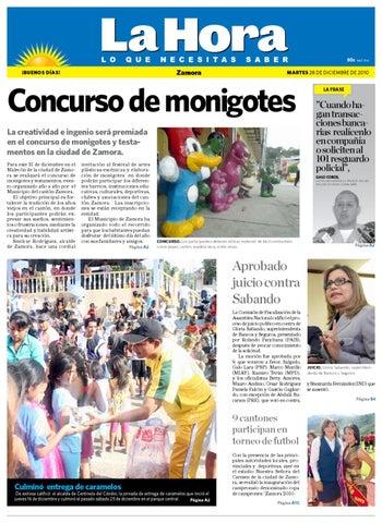Diario La Hora Zamora 28 de Dic de 2010 by Diario La Hora Ecuador ... e0f165912d137
