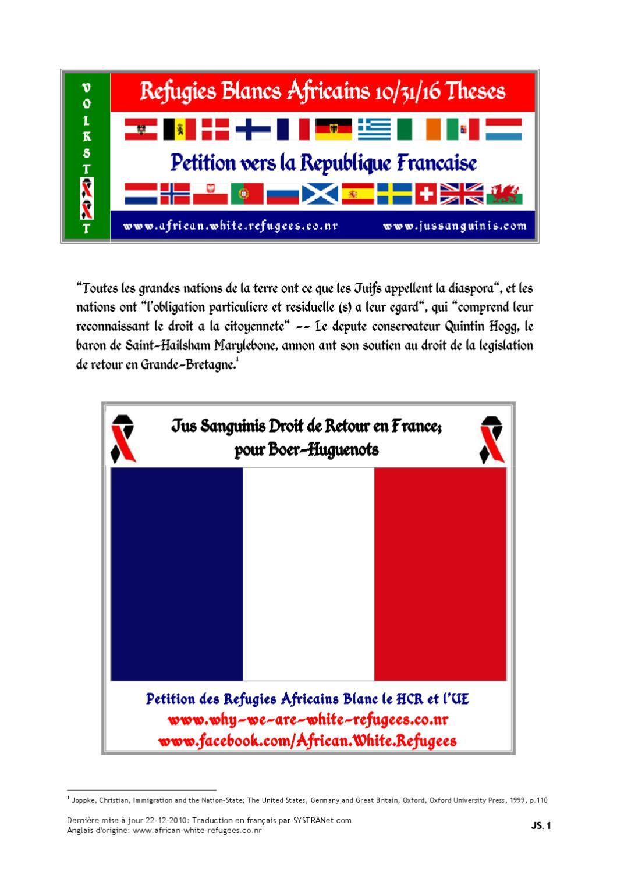 Refugies Blancs Africains 10 31 16 Theses  FR  Boer Volkstaat  ou  Droit-de-Retour de Jus Sanguinis by Andrea Muhrrteyn - issuu 6f7cd991c8d
