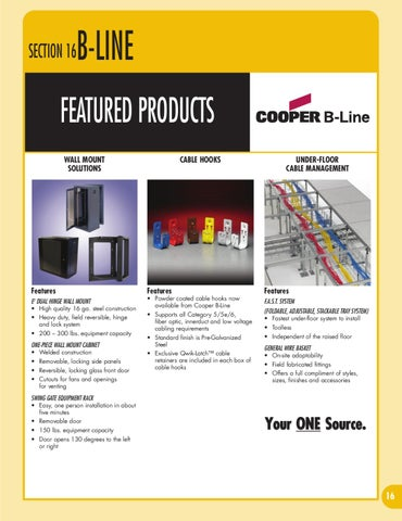 Cooper B Line Products Catalog By Accu Tech Issuu