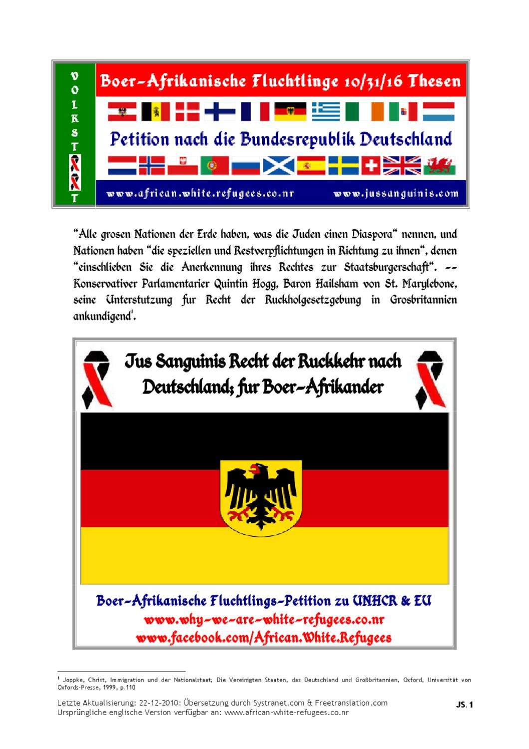 hot sale pre order uk availability DE: Boer-Afrika Fluchtlinge 10/31/16 Thesen: Boer Volkstaat ...