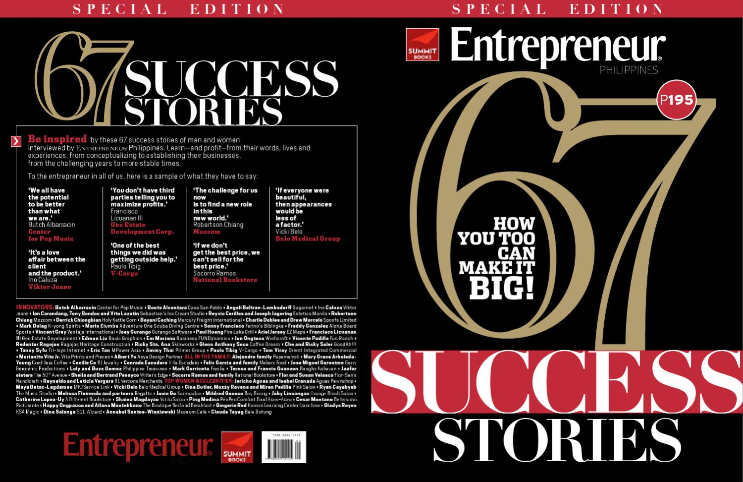 029a1d38a2108 67 Success Stories by chez andrade - issuu