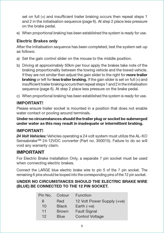 Al Ko Sensabrake In Car Kit Installation By Myboatingshopcom Issuu 24 Volt Wiring Plug And Receptacle