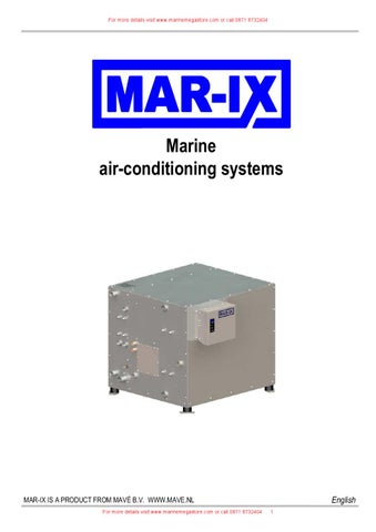 Mave B V -MAR-IX - Marine air-conditioning systems - Catalogue by