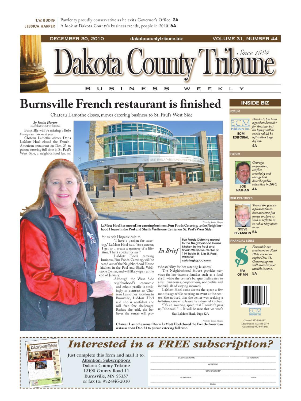 12/30/2010 - dakota county tribune business weekly by dakota