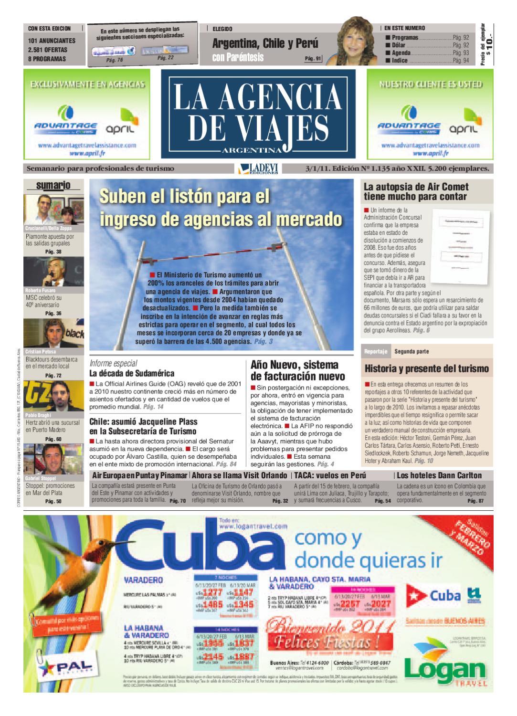 La Agencia de Viajes Argentina Nº 1.135 by La Agencia de Viajes - issuu