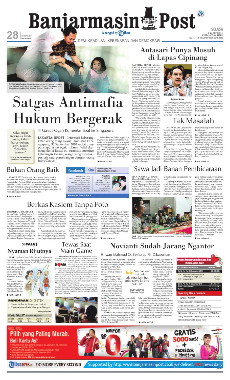 Banjarmasin Post Cetak Edisi 4 januari 2011 by Banjarmasin Post ...