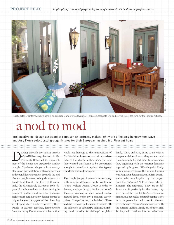 Charleston home design magazine winter 2011 by - Charleston home and design magazine ...