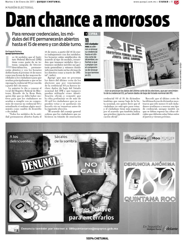 Periódico Quequi 100 Chetumal By Quequi Issuu